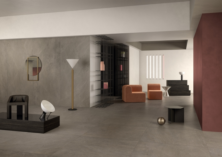 Slimtech Nextone Taupe by Lea Ceramiche Cersaie tile collections large format marble look