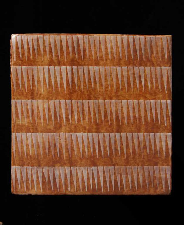 Haveli Zig Zag by Neisha Crosland tile design fired earth