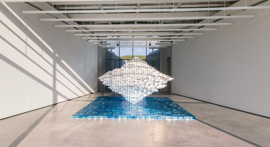 """Jean Michel Othoniel installation """"Îles Singulières"""" exhibition"""