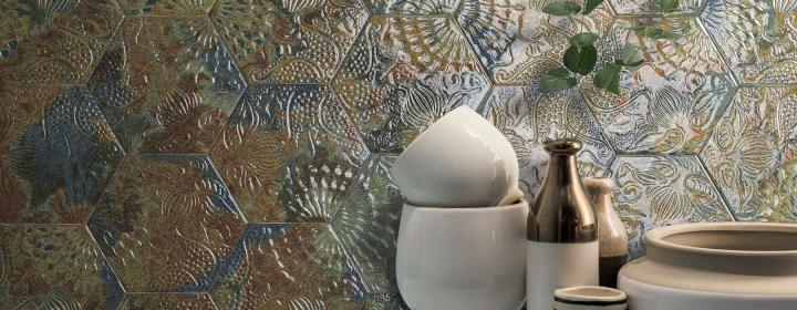 hexagonal tile relief oceanic gaudi codicer 95