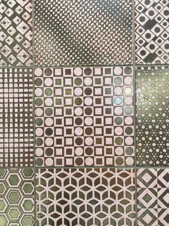 Elios Ceramica Cersaie metallic effect tiles 2019