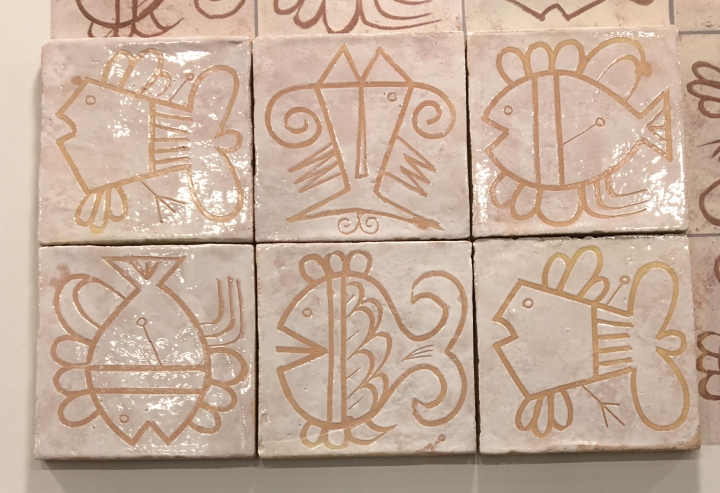 whimsical fish decor tiles cersaie 2019