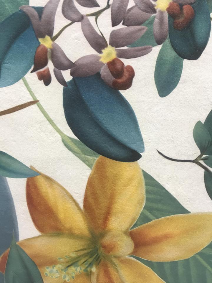 Eden tropical floral tile slab cersaie
