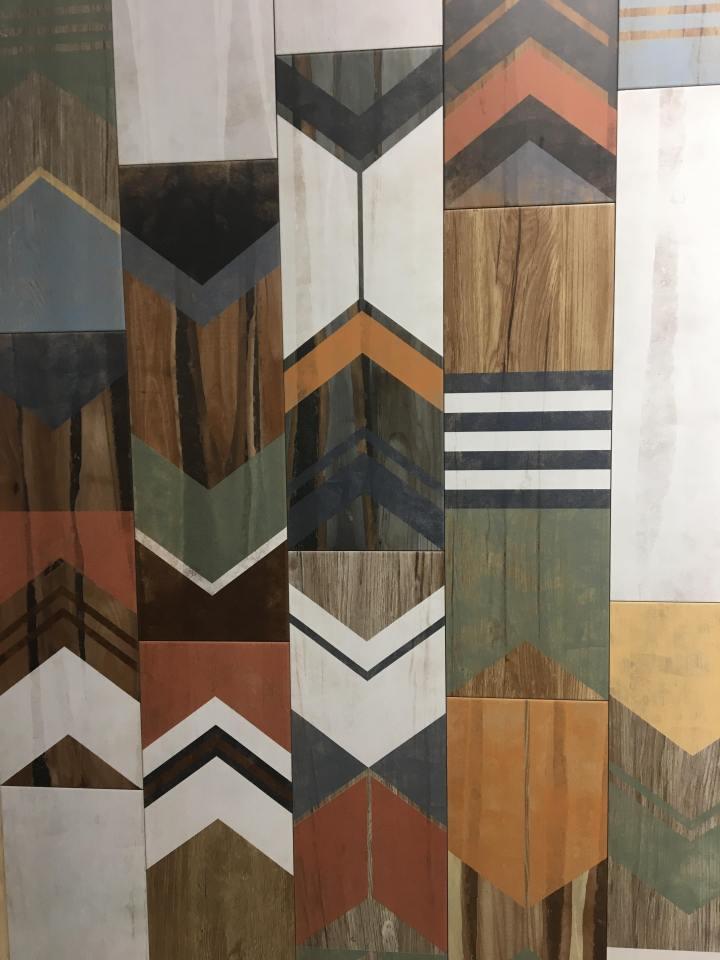 painted wood look tiles veneto ceramicas cersaie 2019
