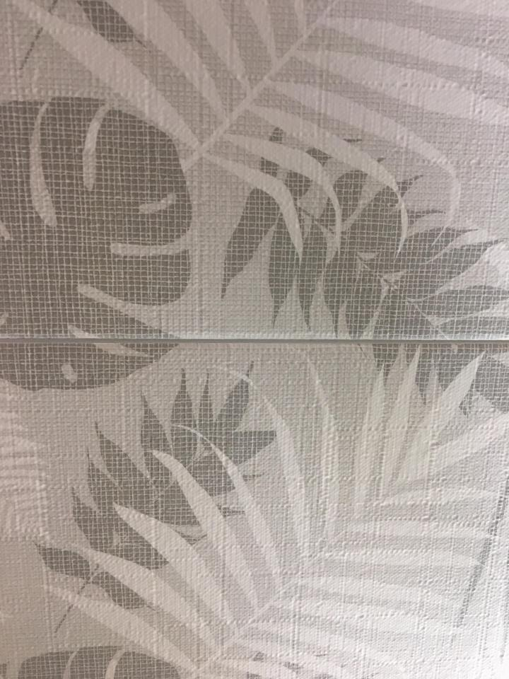 Chester greyscale jungle print textured wall tile cersaie 2019