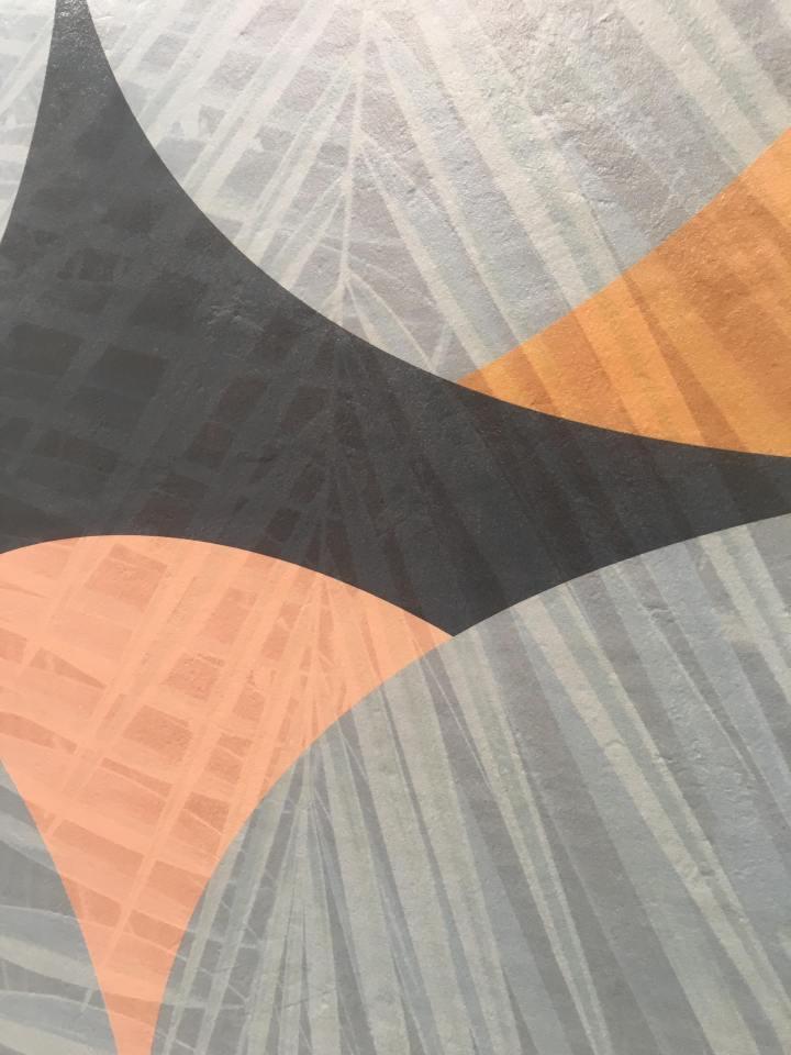 Kaleidoscope tropical floral tile slab cersaie
