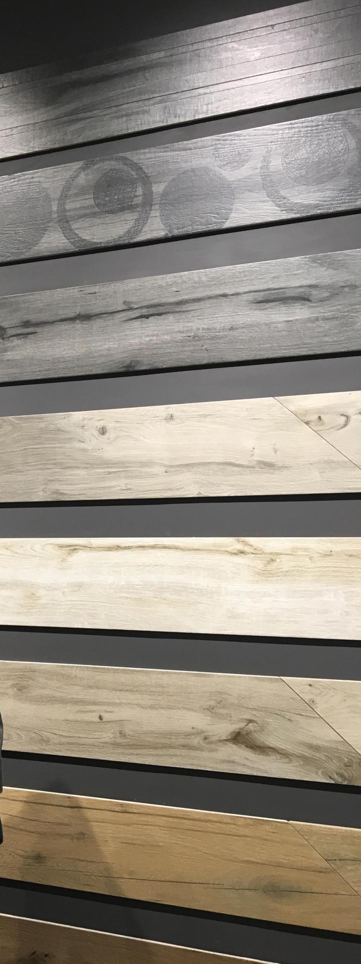 textured patterned wood look tile rondine cersaie 2019