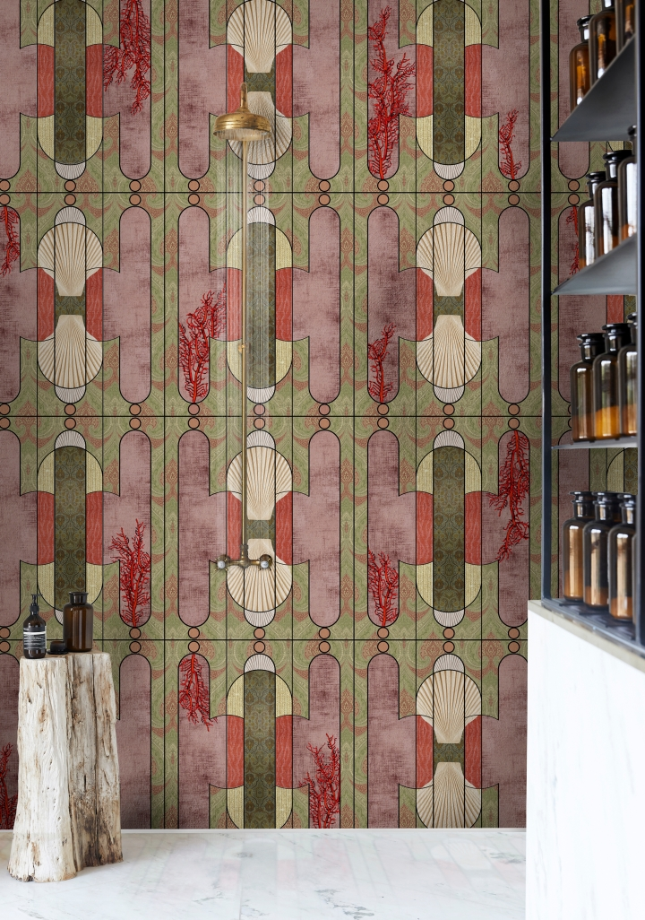 wet system wall paper cersaie 2019 wall and deco