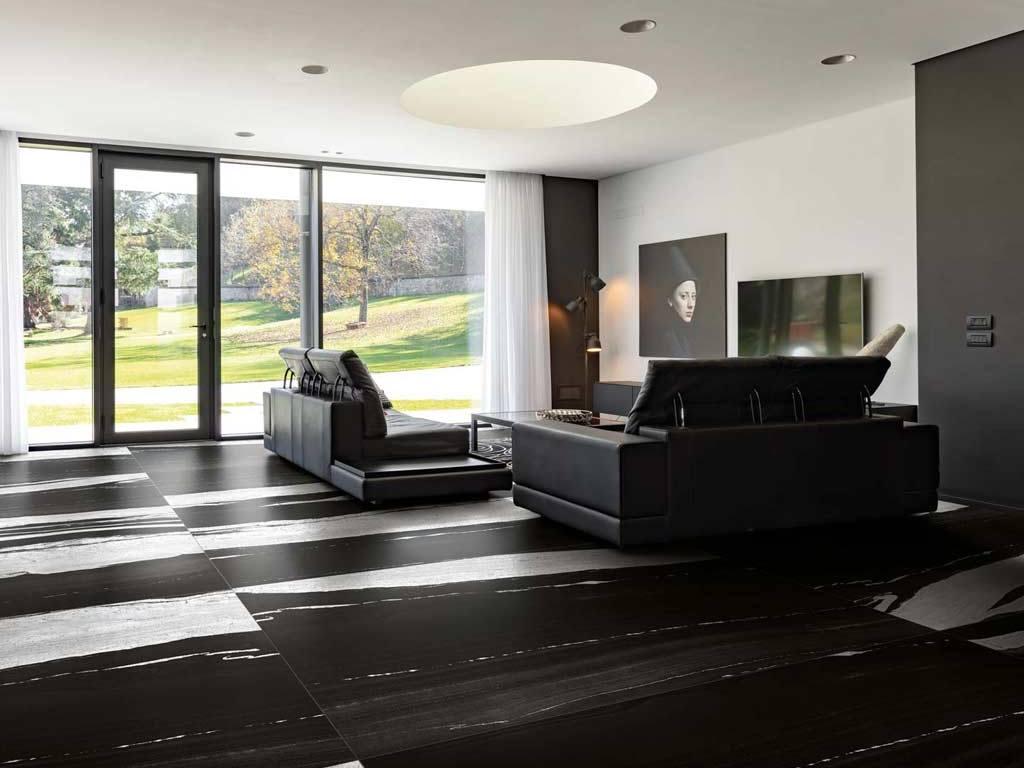 B&W Marble Flor Gres Florim monochrome tile slab collection