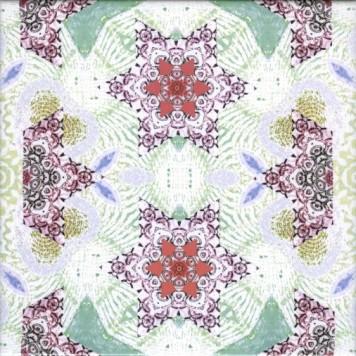 crinson kaleidoscope tile design