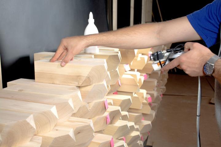 acoustic wall Gramazio Kohler cafe installation