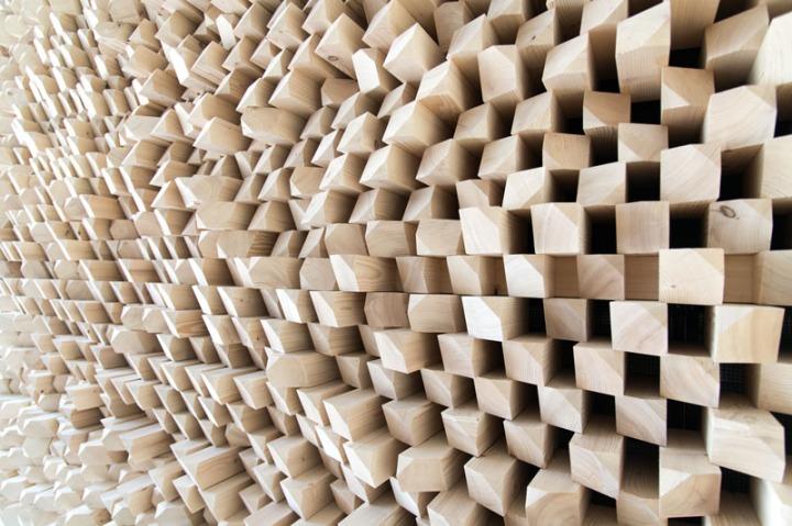 Gramazio Kohler acoustic wall installation switzerland