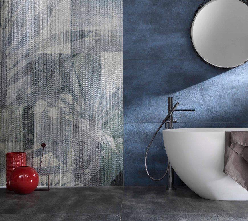 Gigacer translucent textured decor tile collection