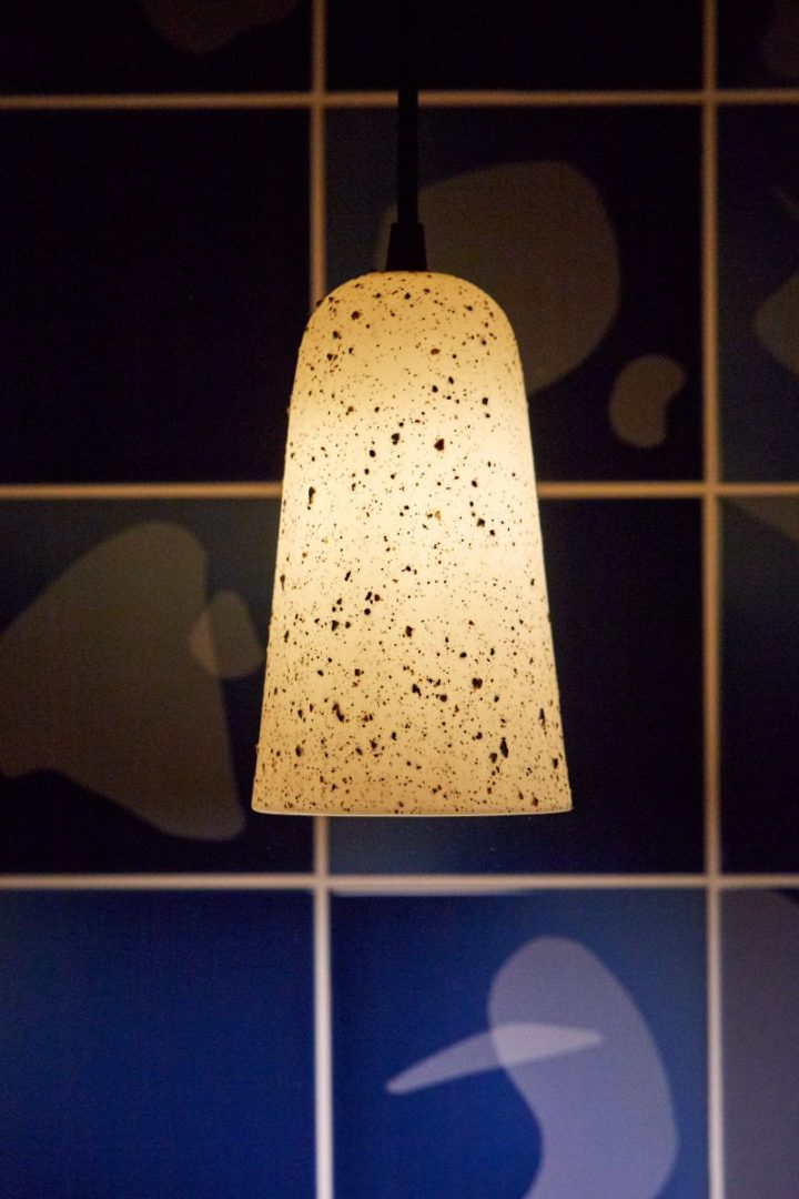 Granby Workshop Speckled porcelain pendant
