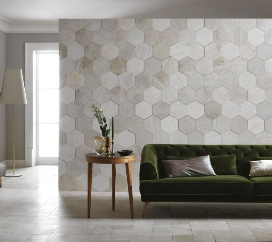 Artesia natural slate hexagonal tiles