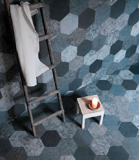 Artesia natural slate hexagonal tiles