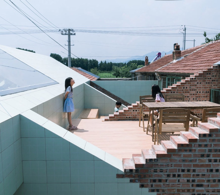 wonder architects yangqing china rural tiled building