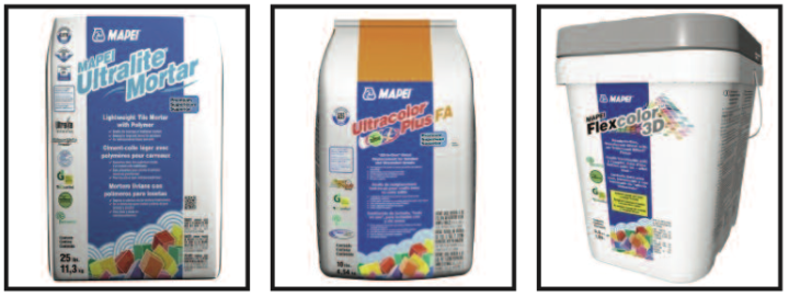 Certified products from Mapei