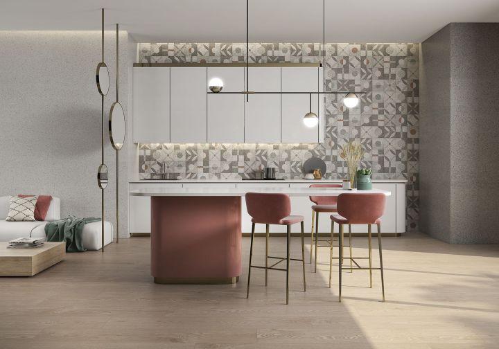 Shiro Memphis Iris from Saloni grey tile trend 2020