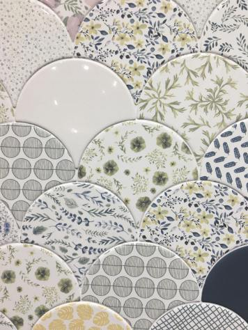 Jazz Mix Deco from Cevica foral tile trend 2020