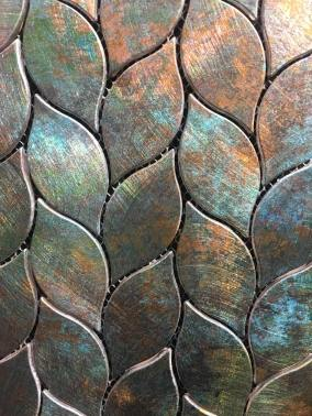 Aluminium mosaic tiles from Inkoart