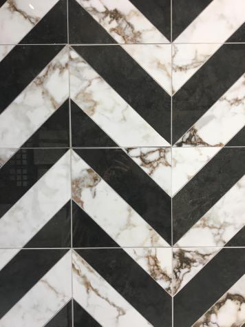 Breccia White/Pepper Diagonale from Museum Surfaces art deco