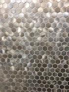 Metallic hexagonal mosaic by Dune tile trend 2020