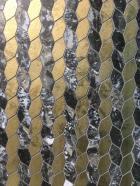 Metallic hexagonal mosaic by Azteca tile trend 2020