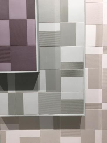 Tonal Aubergine, Sage, and White by Raw Color for Harmony tile trend 2020