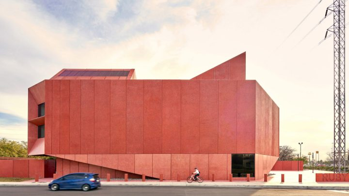 pink concrete r architecture David Adjaye