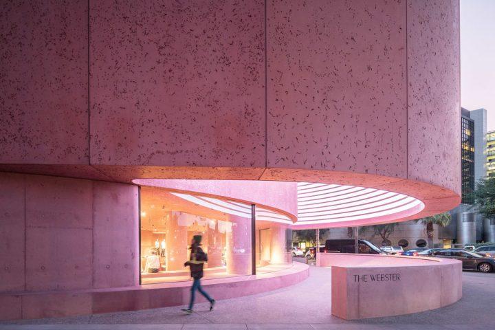 pink concrete The Webster california architecture David Adjaye